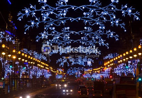 St Petersburg Nevsky Prospekt Night Russia Stock Photo | Thinkstock