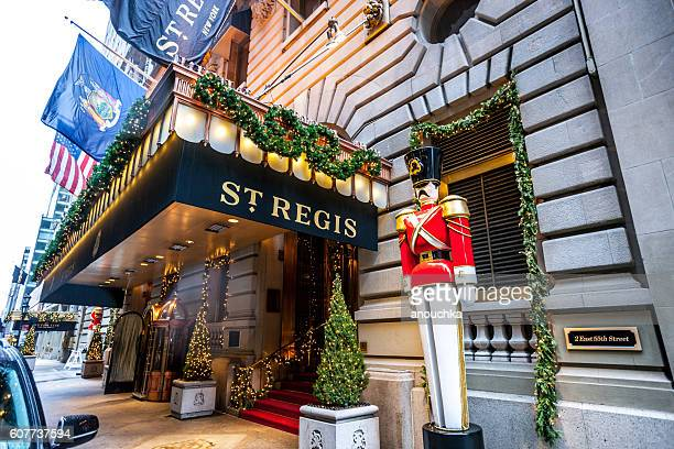 St. Regis Hotel decorated for winter holidays, New York