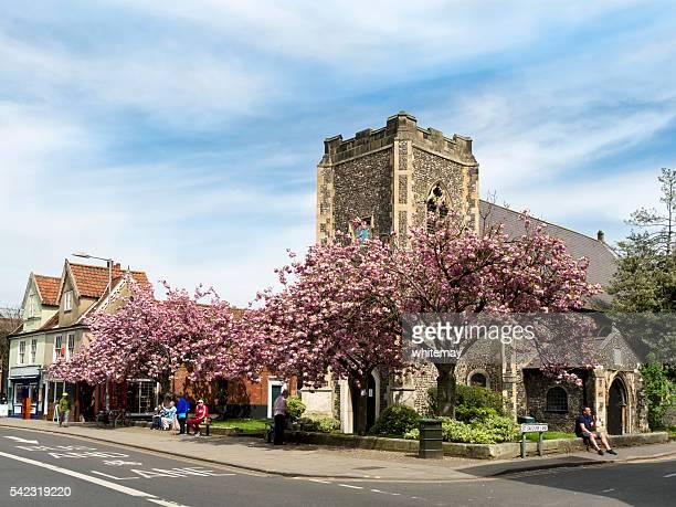 St Erlöserkirche und Krabbenküchlein von der Magdalen Street, Norwich