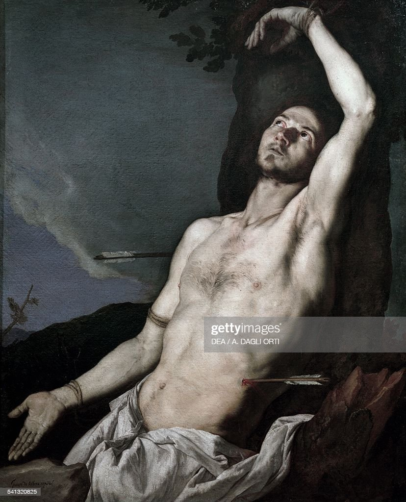 St Sebastian, 1651, by Jusepe de Ribera known as Spagnoletto (ca 1591-1652), oil on canvas. Naples, Museo Nazionale Di Capodimonte