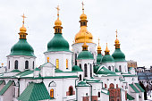 St. Sophia Cathedral was built in XI age in Kyiv, Ukraine. The cathedral was built in the likeness of Hagia Sophia in Istanbul. Inside the cathedral is preserved the most complete in the world ensembl
