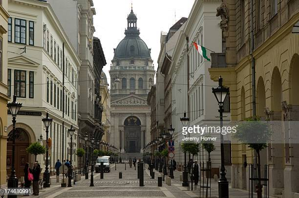 St Stephen's Basilica and Pest street