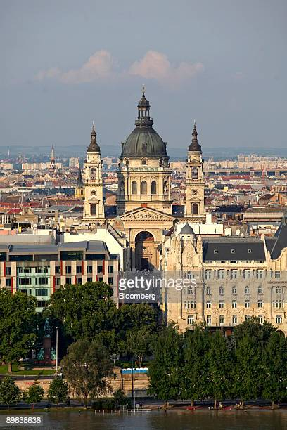 St Stephen's Basilica stands above the rooftops in Budapest Hungary on Friday June 26 2009 Hungary's economic sentiment index rose in June to the...