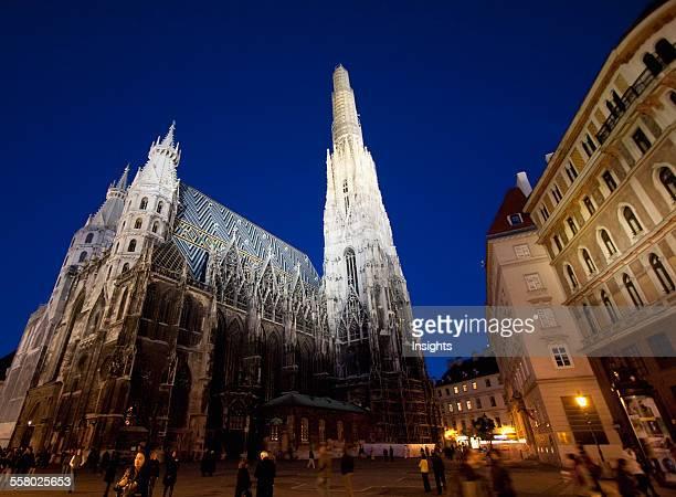 St Stephen's Cathedral at night Vienna Austria
