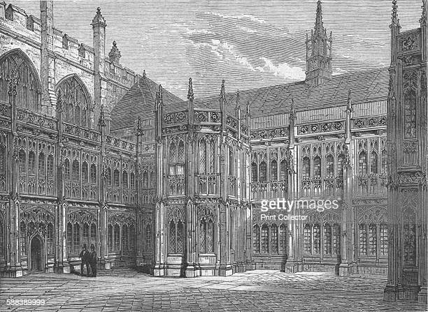 St Stephen's Cloisters 1897 From Old and New London Vol III by Edward Walford