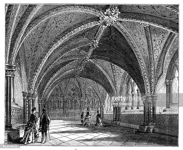 St Stephen's Crypt Westminster Palace London c1888 Illustration from The Life Times of Queen Victoria Vol II by Robert Wilson