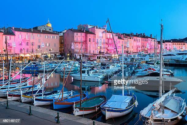 St Tropez illuminated at Christmas Time