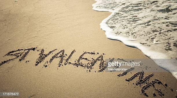 St. Valentine message in the sand