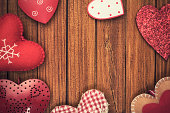 St valentine vintage background decoration