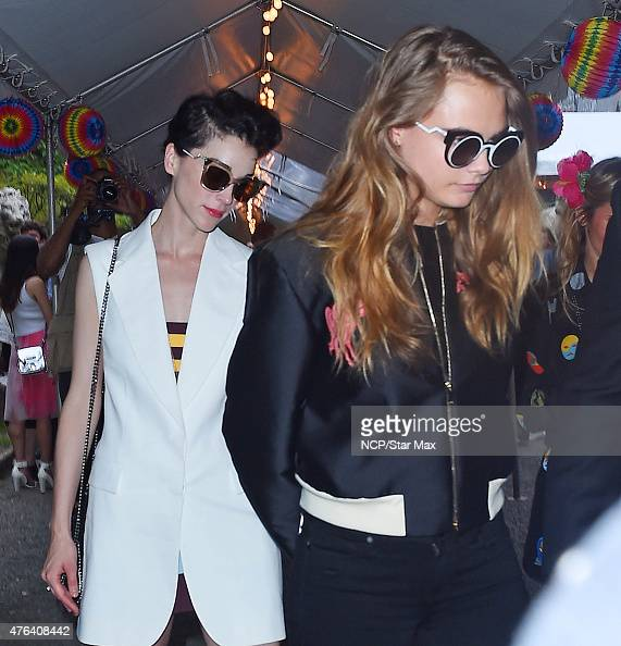 St Vincent and Cara Delevingne is seen on June 8 2015 in New York City