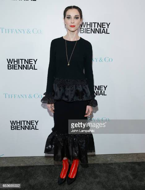 St Vincent attends 2017 Whitney Biennial presented by Tiffany Co at The Whitney Museum of American Art on March 15 2017 in New York City