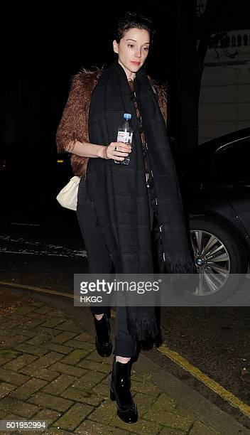 St Vincent attends Love Magazine's Christmas party at George restaurant on December 18 2015 in London England