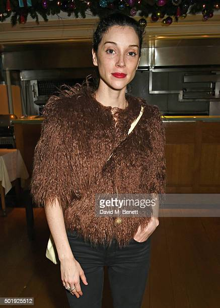 St Vincent attends the LOVE Christmas party at George on December 18 2015 in London England