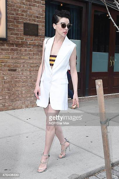 St Vincent is seen on June 8 2015 in New York City