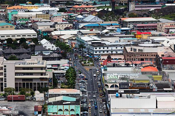St. Vincent, Kingstown, elevated city view