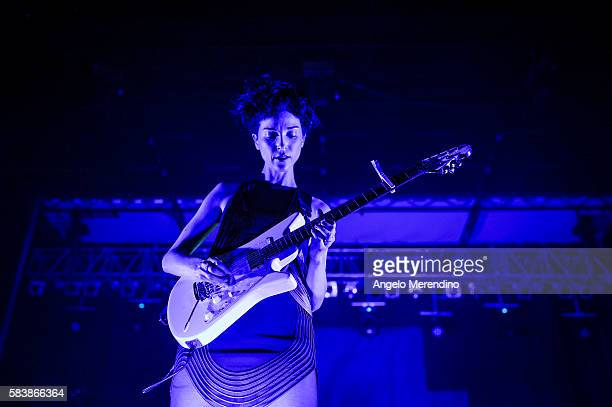St Vincent performs at The 2015 Nelsonville Music Festival on May 30 in Nelsonville Ohio The festival in its eleventh year is held on Robbins...