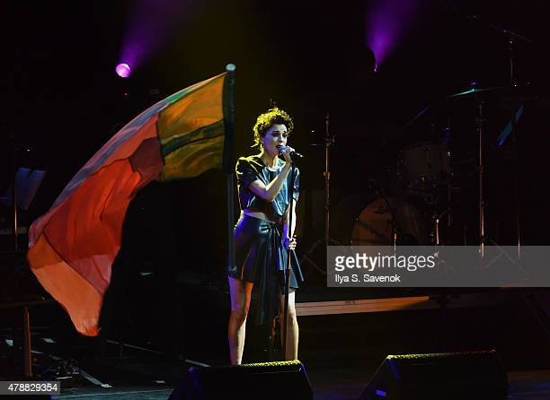 St Vincent performs during Contemporary Color Conceived By David Byrne at Barclays Center of Brooklyn on June 27 2015 in New York City