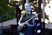 St Vincent performs during Pitchfork Music Festival at Union Park on July 19 2014 in Chicago Illinois