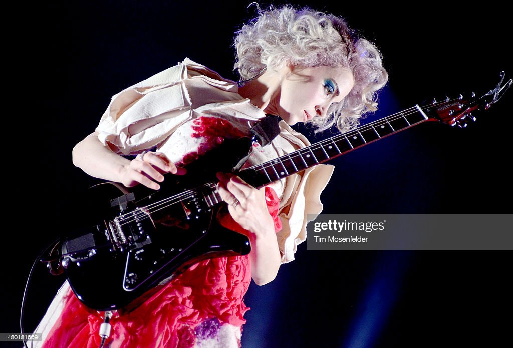 St Vincent performs in support of her self titled release at The Fox Theatre on March 22 2014 in Oakland California