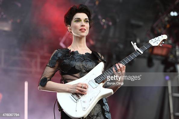 St Vincent performs on the first day of Governors Ball Festival at Randall's Island Park on June 5 2015 in New York United States