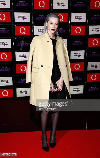 St Vincent poses for photos in front of the worlds first digital branding board from Sony at the Xperia Access Q Awards at The Grosvenor House Hotel...