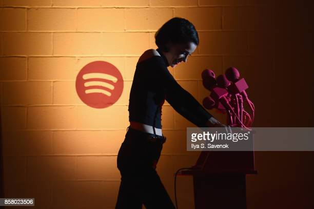 St Vincent speaks at the Special Escape Room Experience created by Spotify for St Vincent and their bggest fans to celebrate forthcoming album...