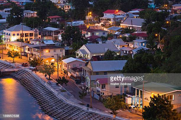 St. Vincent, town view, dusk