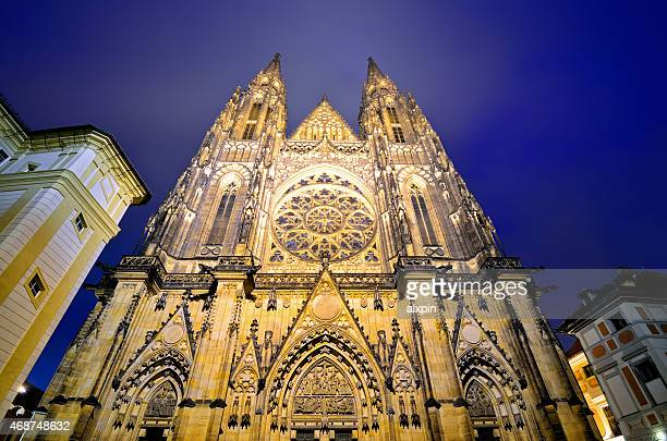 St. Vitus cathedral in night