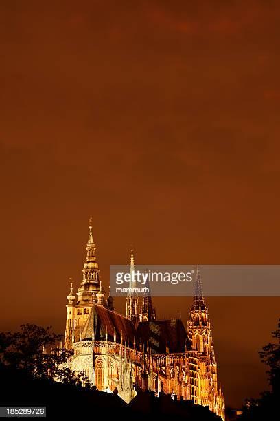 St. Vitus's Cathedral night shot - Prague Castle