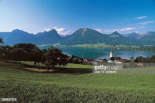 St Wolfgang im Salzkammergut on Wolfgangsee lake Upper Austria