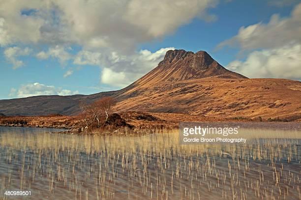 Stac Pollaidh over Loch Lurgainn.