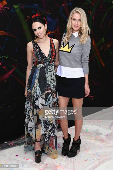 Stacey Bendet and Nicky Hilton Rothschild attend the alice olivia x Basquiat CFDA Capsule Collection launch party on November 2 2016 in New York City