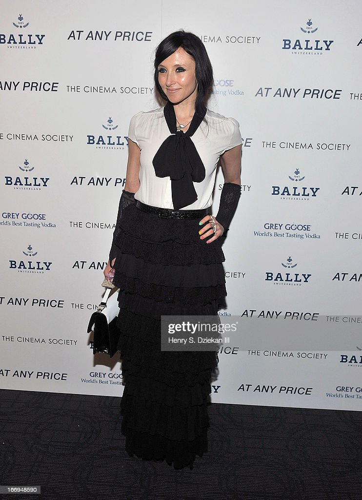 Stacey Bendet attends the Cinema Society & Bally screening of Sony Pictures Classics' 'At Any Price' at Landmark's Sunshine Cinema on April 18, 2013 in New York City.