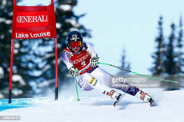 Stacey Cook of the USA competes during the Audi FIS Alpine Ski World Cup Women's Downhill Training on December 04 2014 in Lake Louise Canada