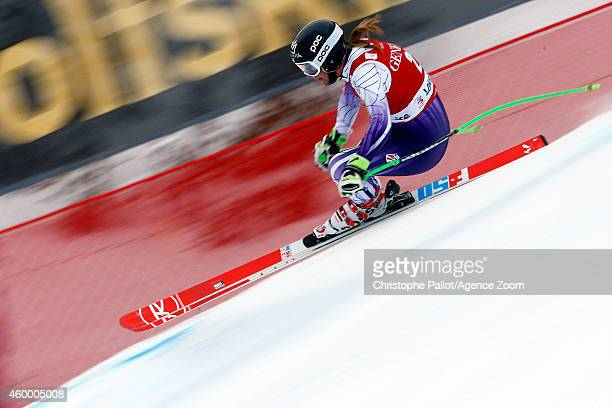 Stacey Cook of the USA competes during the Audi FIS Alpine Ski World Cup Women's Downhill on December 05 2014 in Lake Louise Canada