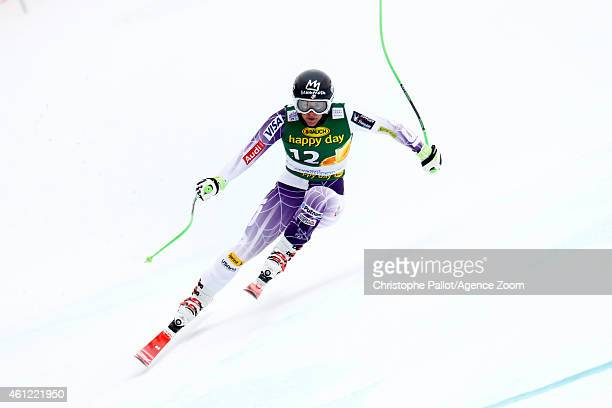 Stacey Cook of the USA competes during the Audi FIS Alpine Ski World Cup Women's Downhill Training on January 09 2015 in Bad Kleinkirchheim Austria