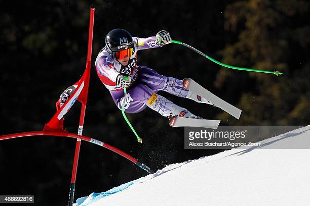 Stacey Cook of the USA competes during the Audi FIS Alpine Ski World Cup Finals Women's Downhill on March 18 2015 in Meribel France