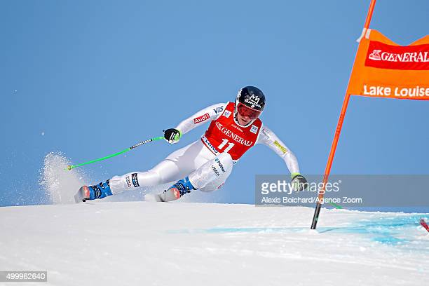 Stacey Cook of the USA competes during the Audi FIS Alpine Ski World Cup Women's Downhill on December 04 2015 in Lake Louise Canada