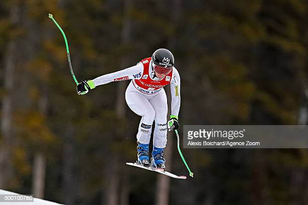 Stacey Cook of the USA competes during the Audi FIS Alpine Ski World Cup Women's Downhill on December 05 2015 in Lake Louise Canada