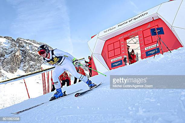Stacey Cook of the USA competes during the Audi FIS Alpine Ski World Cup Women's Downhill Training on December 16 2015 In Val d'Isere France