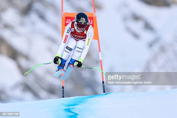 Stacey Cook of the USA competes during the Audi FIS Alpine Ski World Cup Women's Downhill on December 19 2015 in Val dÕIsere France