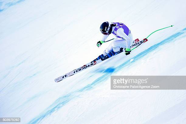 Stacey Cook of the USA competes during the Audi FIS Alpine Ski World Cup Women's Downhill Training on January 08 2016 in AltenmarktZauchensee Austria