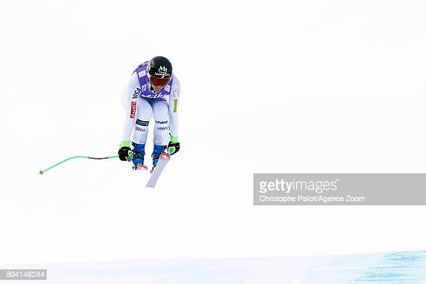 Stacey Cook of the USA competes during the Audi FIS Alpine Ski World Cup Women's Downhill on January 09 2016 in AltenmarktZauchensee Austria