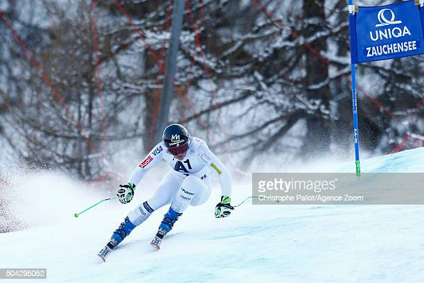 Stacey Cook of the USA competes during the Audi FIS Alpine Ski World Cup Women's SuperG on January 10 2016 in AltenmarktZauchensee Austria