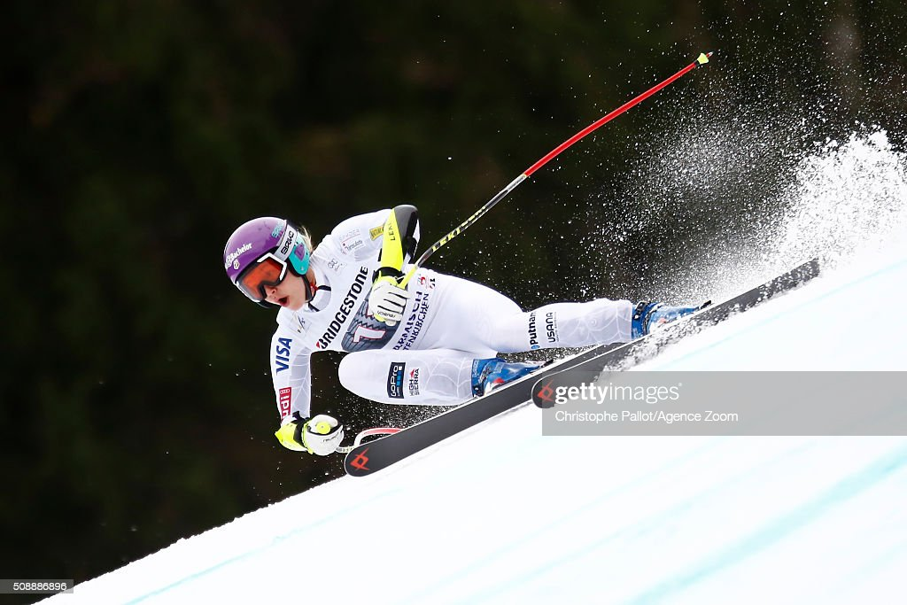 <a gi-track='captionPersonalityLinkClicked' href=/galleries/search?phrase=Stacey+Cook&family=editorial&specificpeople=815619 ng-click='$event.stopPropagation()'>Stacey Cook</a> of the USA competes during the Audi FIS Alpine Ski World Cup Women's Super G on January 07, 2016 in Garmisch-Partenkirchen, Germany.