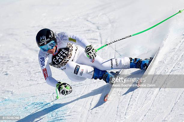 Stacey Cook of the USA competes during the Audi FIS Alpine Ski World Cup Women's SuperG on March 12 2016 in Lenzerheide Switzerland