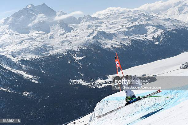 Stacey Cook of the USA competes during the Audi FIS Alpine Ski World Cup Finals Women's Downhill Training on March 14 2016 in St Moritz Switzerland