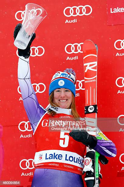 Stacey Cook of the USA takes 2nd place during the Audi FIS Alpine Ski World Cup Women's Downhill on December 06 2014 in Lake Louise Canada