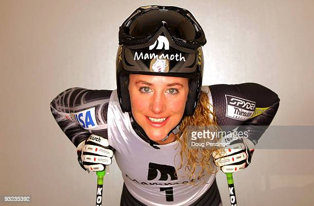 Stacey Cook of the Women's US Alpine Ski Team poses for a portrait during media day on November 19 2009 in Copper Mountain Colorado