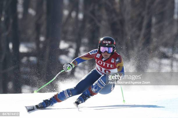 Stacey Cook of USA competes during the Audi FIS Alpine Ski World Cup Women's Downhill on March 04 2017 in Jeongseon South Korea